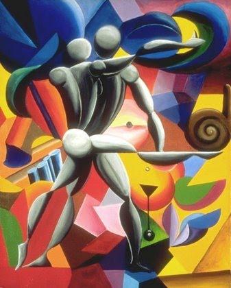 Abstract artwork more modern than contemporary